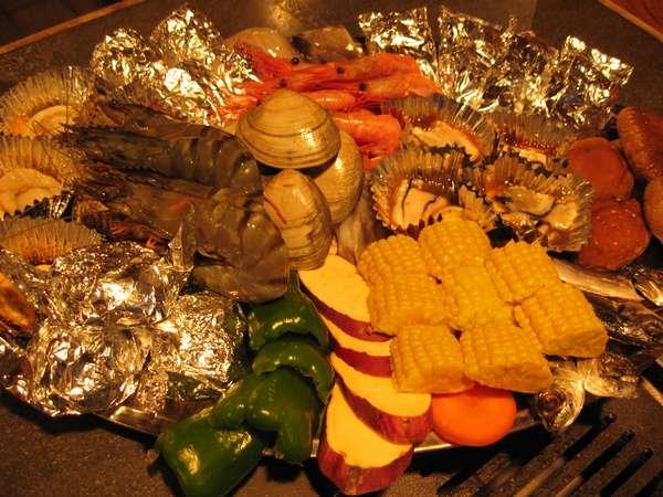 新鮮な野菜と魚介がたっぷり