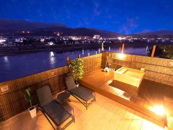 屋上に【貸切家族風呂】が新しくOPEN!筑後川を眺める静かな風景を独り占め♪