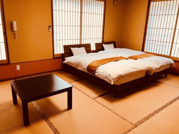 2017年9月リニューアル洗面・トイレ付お部屋3室(海がみえるお部屋)ベット