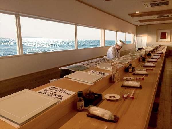【海の彩】ロケーション抜群のカウンダーが人気の鮨屋台