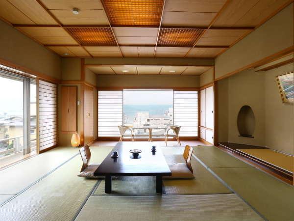 【今心閣】広々と明るく開放感に溢れた絶景客室(一例)