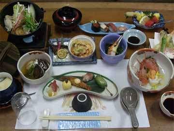 ●会席一例●地元でとれたお野菜を使ったお食事をお召し上がりください