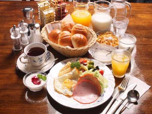 アメリカンスタイルの朝食(一例)