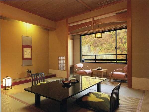 和室12.5畳バス・トイレ付き景観(山・川)