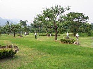 当館より徒歩5分のマレットゴルフ場。ご宿泊のお客様は無料で利用できます!