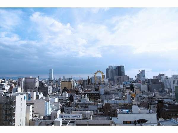 屋上テラスからの景色