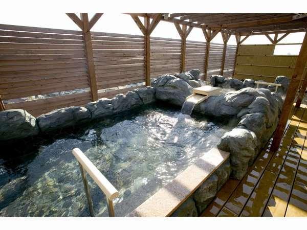「天然温泉 ロテン・ガーデン」内「天望露天風呂」は何と天然温泉掛け流し!