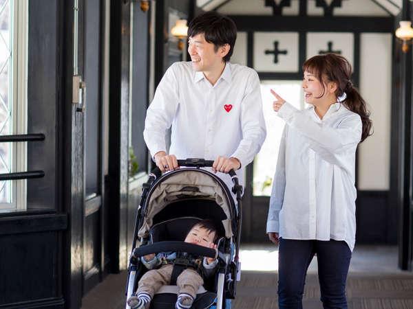 【ウェルカムベビーのお宿認定ホテル】24H利用できる授乳室や売店で乳幼児向け備品も販売。