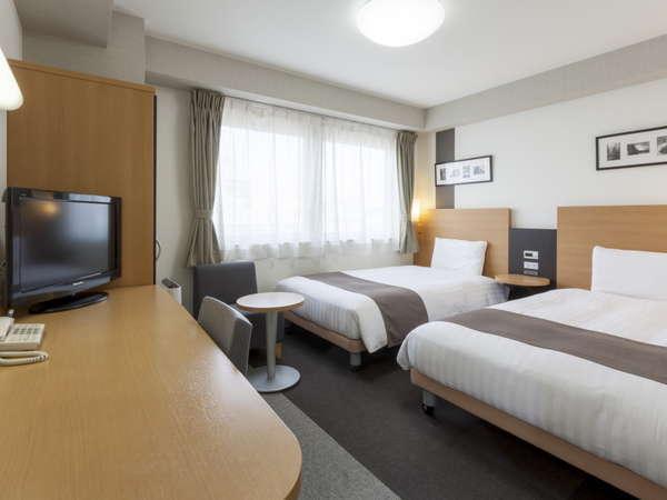 2ベッドルーム◆ツインエコノミー◆19平米◆ベッド幅120cm×2台