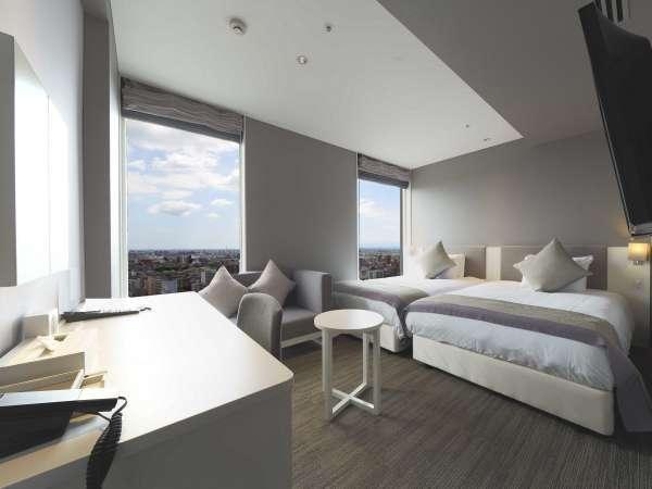 スーペリアツイン 24㎡ ベッドサイズ(幅122㎝)×2台 ※窓が1つの場合もございます。