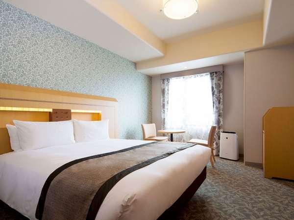 【客室】ダブルルーム(ベッド幅:160センチ×203センチ)