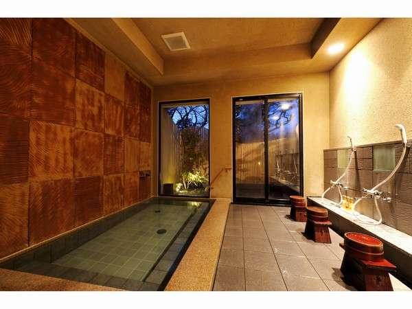 若草山の自然をイメージして造りました大浴場風の湯(男湯)