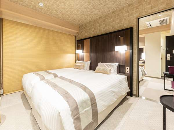 ミュッセコネクティングルーム(ミュッセハリウッドツイン21㎡×2部屋)ベッド幅1,000mm×長さ2,000mm