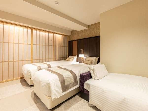 ミュッセスーペリアトリプル 26㎡ ベッド「DeluxeSuiteⅡ」(幅1,050mm×長さ2,000mm)×2台