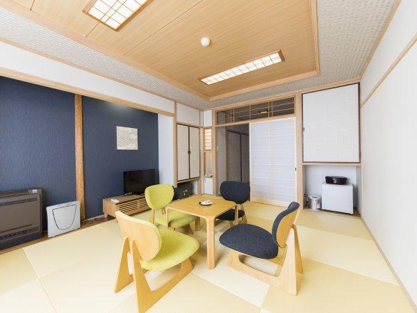 和室イメージ◆井草の香りで落ち着きのある空間。ゆったりお過ごしいただけます。