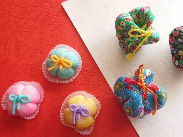 円満寺の結び玉をイメージした練り切り♪職人が作ったカラフルな色合いが特徴の可愛い練り切りです♪