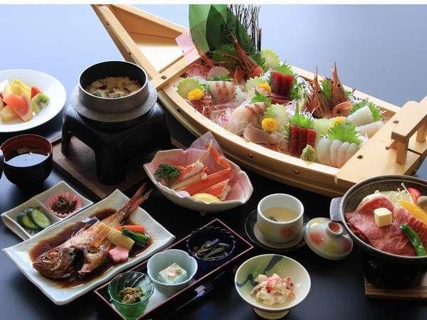 【四季の特選プラン】 海鮮船盛会席コース 厳選した旬の食材お楽しみください♪