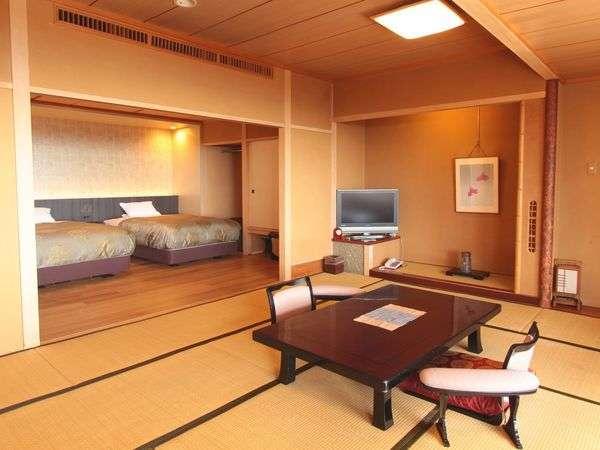 【西館】展望和洋室は最大6名まで利用できます。1日2室限定のお部屋です。