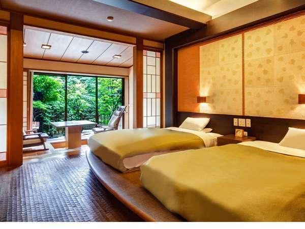 【西館庭園露天風呂付和モダン客室】