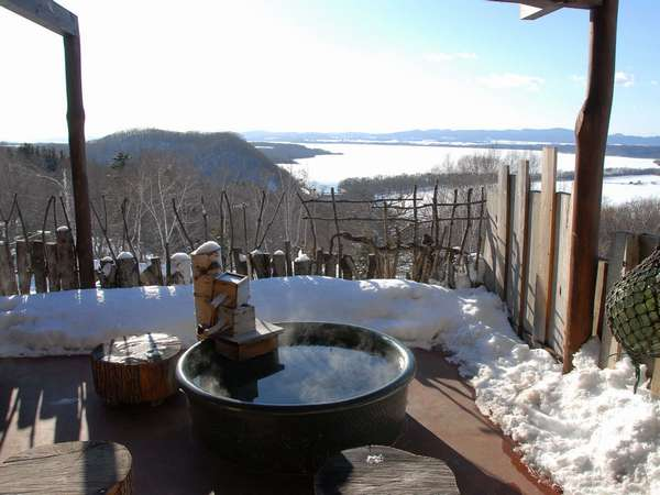 雪見の露天風呂
