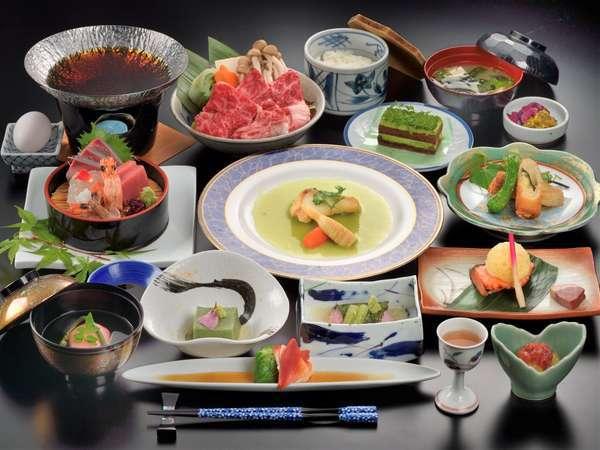 会席料理に使用する食材は料理長が厳選。鮮度、温度に拘りご提供させて頂きます。