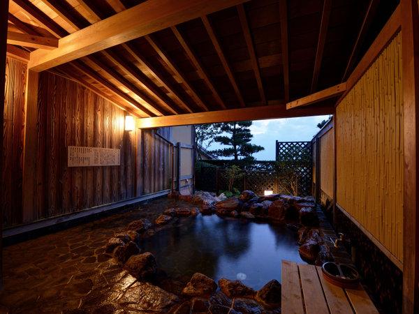 *【離れ】専用の天然ラジウム温泉の露天風呂付きです。