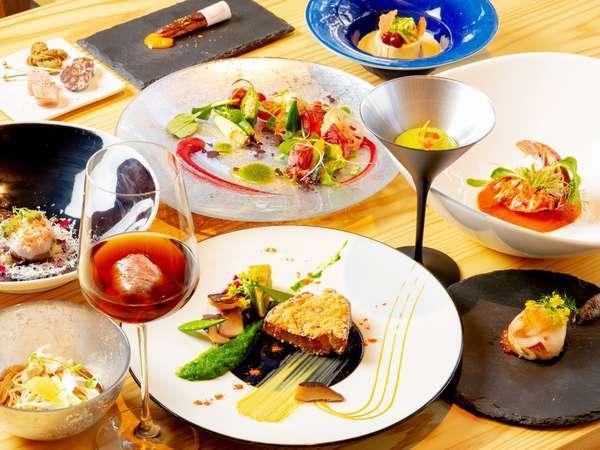 夕食コース料理/奈良の食材をふんだんに使用しております