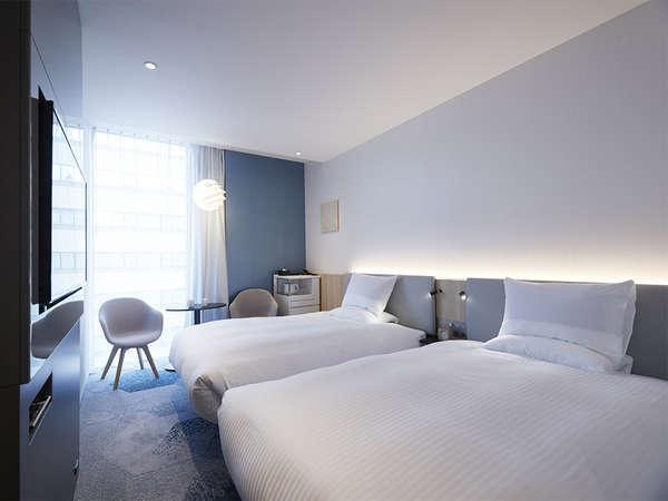【客室】スーペリアツイン・部屋広さ…21㎡・宿泊人数…1~2名・ベッド幅…120cm