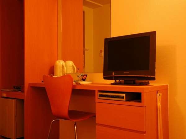 機能的な客室。