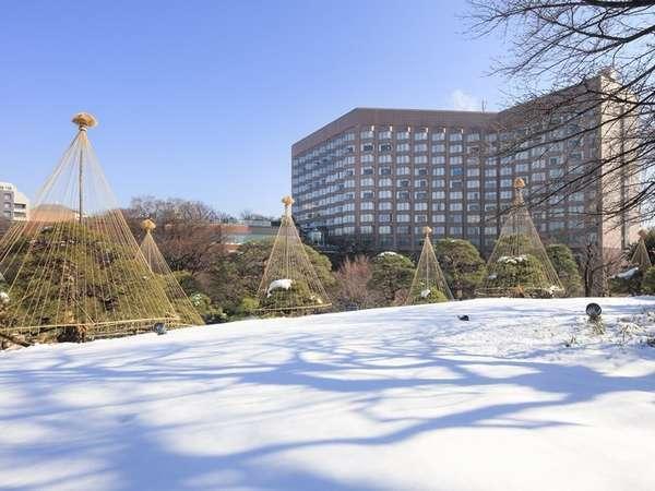 ホテル椿山荘東京の雪景色