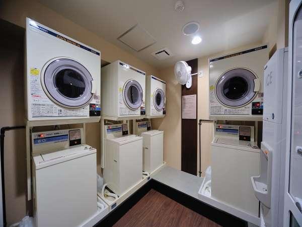 ■ランドリーコーナー:洗濯機無料、乾燥機:30分100円で24時間ご利用頂けます