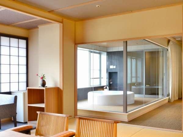 【貴賓室】半露天風呂付和洋室