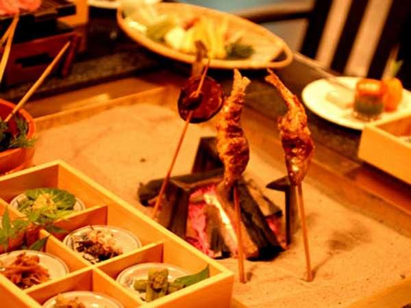 お料理(一例)懐かしい囲炉裏を囲んで、ほくほくのお魚をどうぞ