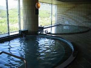 展望風呂(天然温泉槽とバイブラ槽)