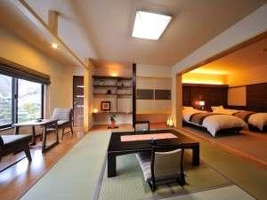 【2階 温泉付特別室】和室・洋室合わせて24畳の広々空間