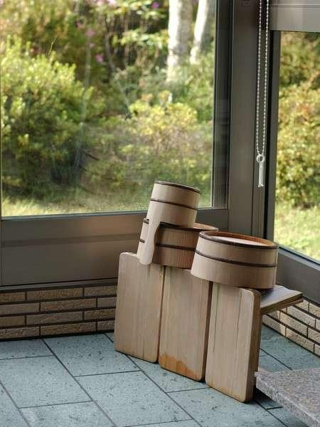 【1階 ヒノキ風呂付和室】ヒノキの香りに包まれながら贅沢なひと時を...