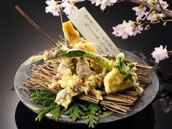 ホタルイカと春野菜の天ぷら