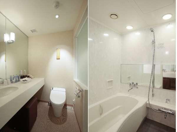 ツインルーム、ダブルルームはバス・トイレがセパレートタイプです