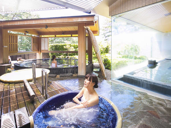 潮騒が心地よい庭園露天風呂