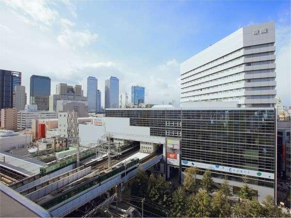 ●京阪京橋駅真上。アクセス最高の駅上ホテル
