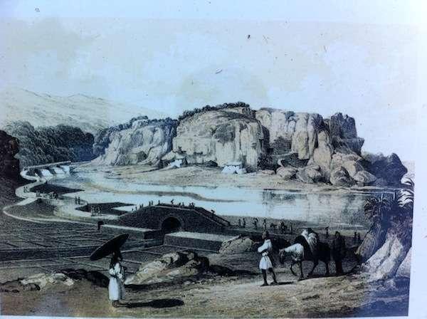 【由緒ある土地柄です】ペリー提督来航の際に書き残した、牧港の風景