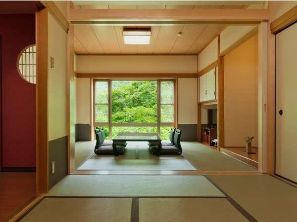 14畳の総檜風呂付クウィーンズルーム(和室)