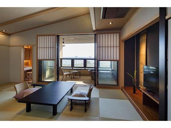 3階客室(ベッド付き和室・露天風呂付)撮影:下村 康典