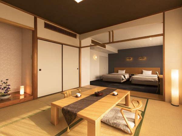 ◆最上階和洋室◆最上階から眺める山々の緑を感じる癒しの空間。