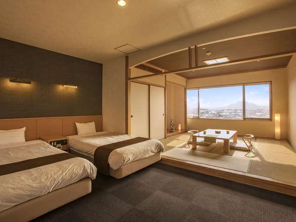 ◆和洋室◆思いっきり手足を伸ばして、ふかふかな羽毛布団で夢見心地♪広い室内でリラ~ックス♪