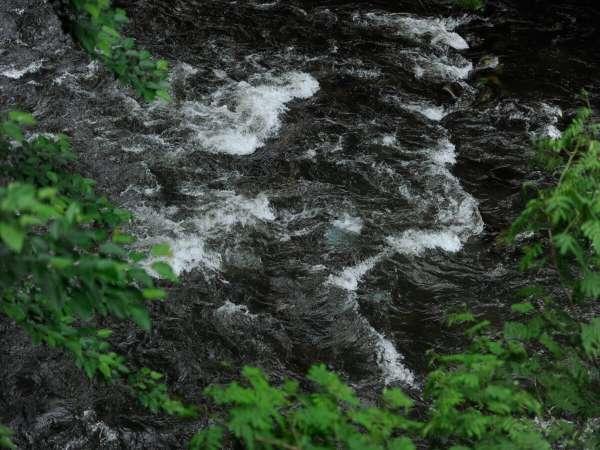 【鶴仙】渓流野天風呂~渓流のすぐそば。渓流の音景色を楽しめる大きな露天風呂~