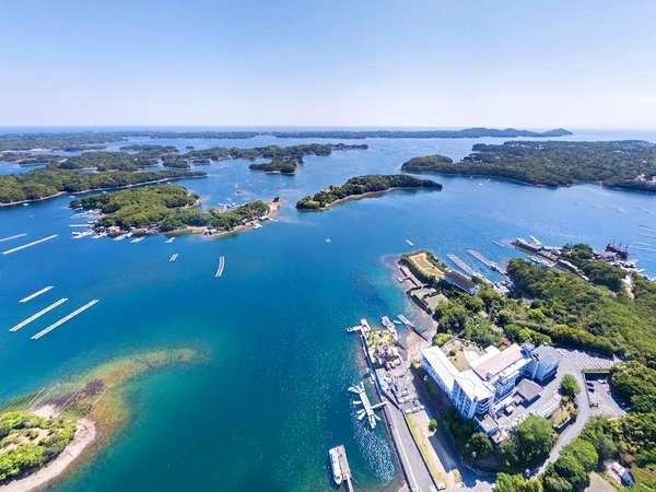 伊勢志摩国立公園内賢島、高台から英虞湾を見晴らす絶景を。