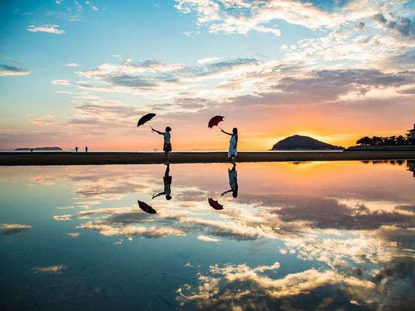 【父母ヶ浜】当館から車で10分!香川の「ウユニ塩湖」です