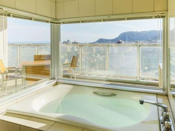 函館の風景を一望出来るビューバス(オーシャンスイート)