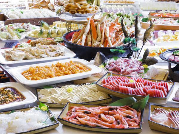 和洋中約60種の品揃え!夕食バイキング一例